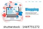 webpage template  business ... | Shutterstock .eps vector #1469751272