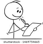 vector cartoon stick figure... | Shutterstock .eps vector #1469754665