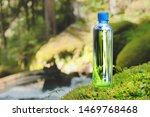Plastic Bottle Blue Cap With...