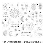 hand drawn mystic symbols. sun  ... | Shutterstock .eps vector #1469784668