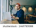 positive caucasian male... | Shutterstock . vector #1469785088