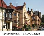 Old street in Decin. Czech Republic