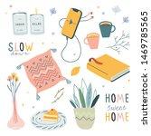 hygge handdrawn illustrations ... | Shutterstock .eps vector #1469785565