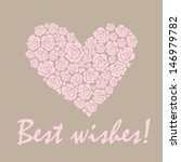 wedding pastel card with heart. ... | Shutterstock . vector #146979782