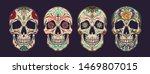 vintage colorful mexican sugar... | Shutterstock .eps vector #1469807015