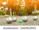 Petanque Balls In The Playing...