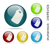 tag sphere button   icon