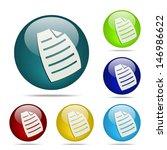 paper document sphere button  ...