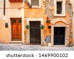 Old medieval streets of Tivoli, Lazio, Italy. Tivoli architecture and landmark.