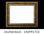 white rectangle in a gold frame ... | Shutterstock . vector #146991722