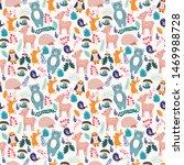 vector forest seamless pattern... | Shutterstock .eps vector #1469988728