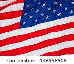 american flag flying in a light ... | Shutterstock . vector #146998928