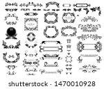 vintage floral decorative... | Shutterstock . vector #1470010928