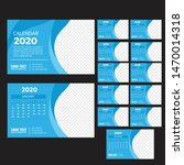 desk calendar 2020 template... | Shutterstock .eps vector #1470014318