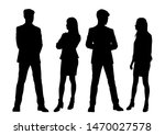 vector silhouettes of  men and... | Shutterstock .eps vector #1470027578