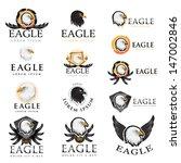 eagle icons set   isolated on...