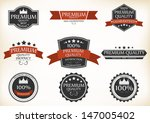 premium quality and guarantee... | Shutterstock .eps vector #147005402