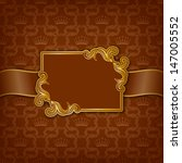 vector elegant gold frame... | Shutterstock .eps vector #147005552