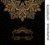 Elegant Gold Frame Banner With...