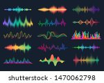 sound waves. frequency audio... | Shutterstock .eps vector #1470062798
