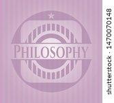 philosophy pink emblem. retro....   Shutterstock .eps vector #1470070148