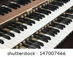 Church Pipe Organ Keyboard...