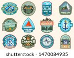 set of sailing camp and summer... | Shutterstock .eps vector #1470084935