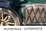 Old Suitcase Mounted On Vintage ...