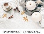 autumn breakfast in bed...   Shutterstock . vector #1470095762