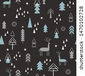 seamless christmas pattern.... | Shutterstock .eps vector #1470102728