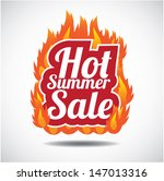 hot summer sale design element. ... | Shutterstock .eps vector #147013316