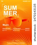 summer music poster with... | Shutterstock .eps vector #1470143135