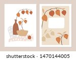 trendy set of floral fall... | Shutterstock .eps vector #1470144005