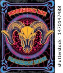 psychedelic art poster  vintage ...   Shutterstock .eps vector #1470147488