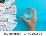conceptual flat lay overhead... | Shutterstock . vector #1470153638