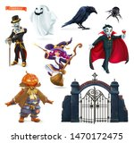 happy halloween. characters and ... | Shutterstock .eps vector #1470172475