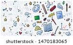 welcome back to school doodle... | Shutterstock . vector #1470183065
