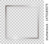 silver shiny square frame with... | Shutterstock . vector #1470185075