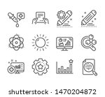 set of science icons  such as... | Shutterstock .eps vector #1470204872