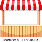 vendor design at funfair with...   Shutterstock .eps vector #1470206615