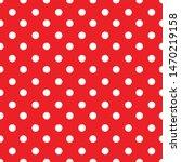 Abstract Red Polka Dot...