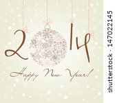 2014 happy new year background.  | Shutterstock .eps vector #147022145