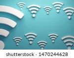 wifi signals background. 3d... | Shutterstock . vector #1470244628