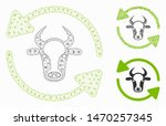 mesh refresh cow model with... | Shutterstock .eps vector #1470257345
