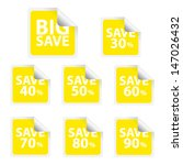 eps10 vector  big save tags... | Shutterstock .eps vector #147026432