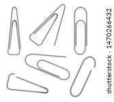 set of metallic paper clips... | Shutterstock .eps vector #1470266432