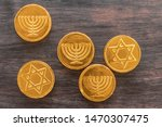 Chocolate Coins With Jewish...