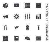 office vector icons set  modern ... | Shutterstock .eps vector #1470317762