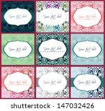 decorative labels and patterns... | Shutterstock .eps vector #147032426