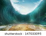 the seas are being parted  | Shutterstock . vector #147033095